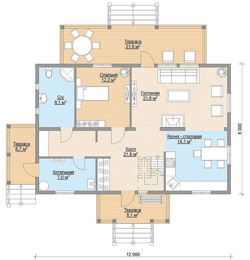 Планировка финского дома