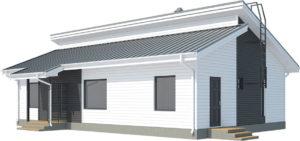 Проект современного финского дома Аскола 100
