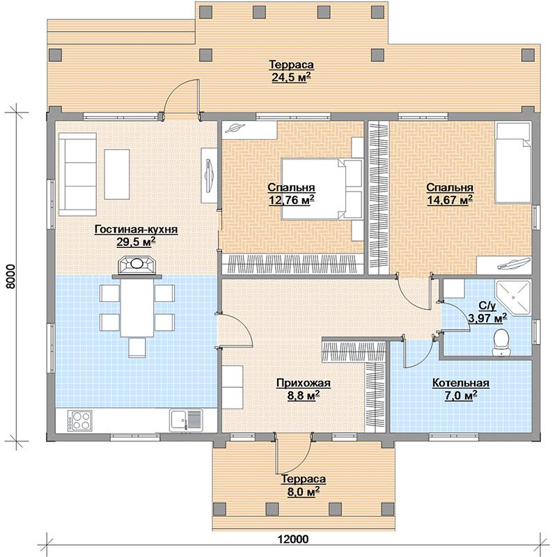 Финский дом Аврора 89 планировка