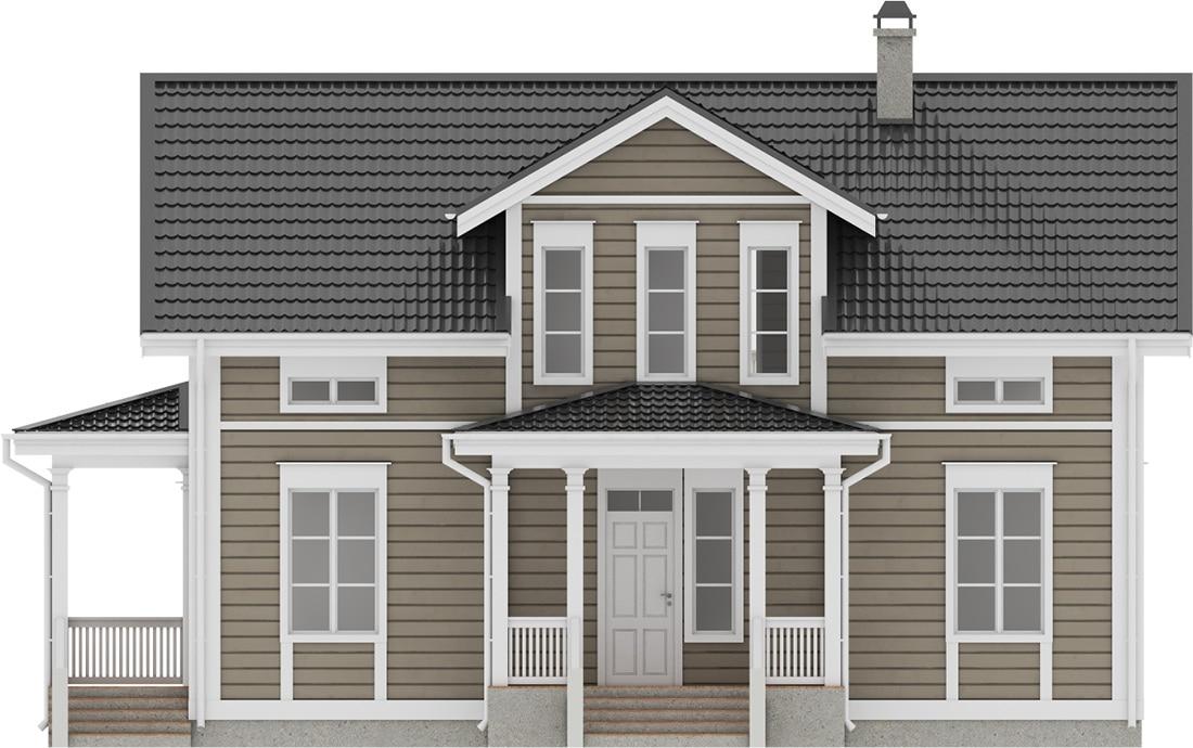 проект финского каркасного дома Аврора 176