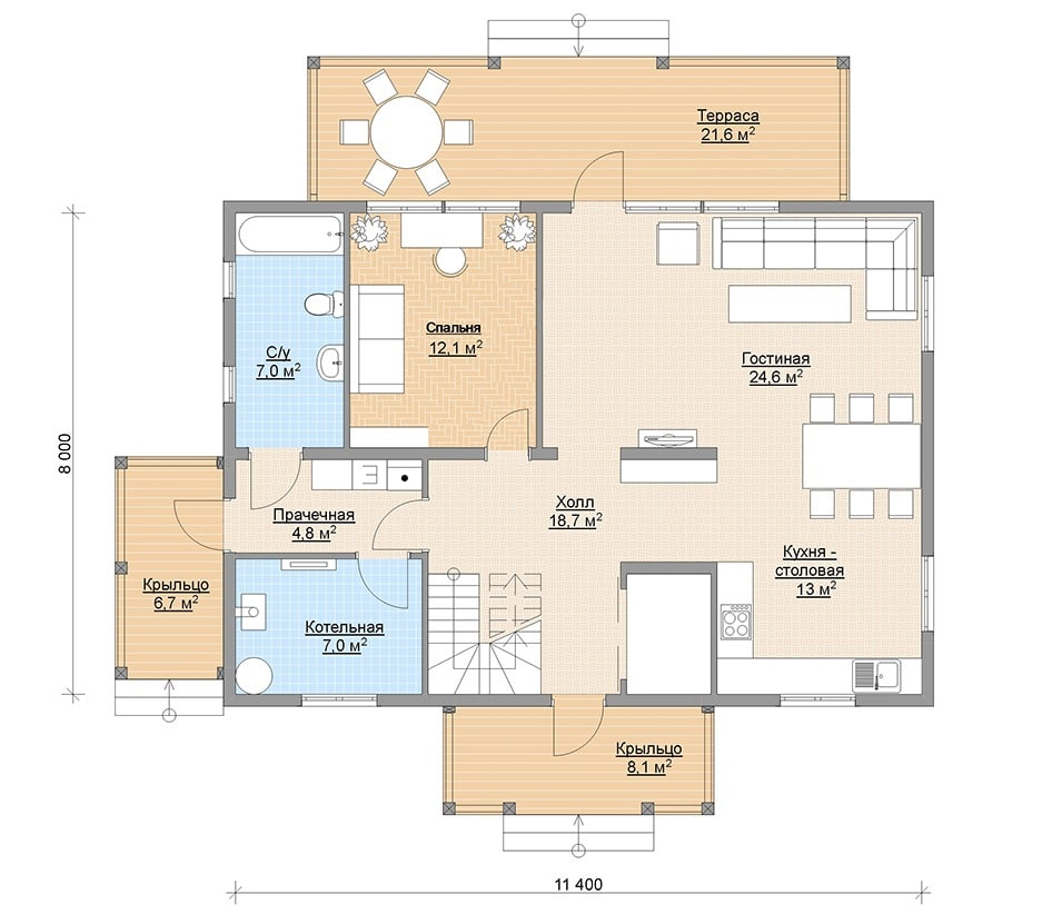 План финского дома
