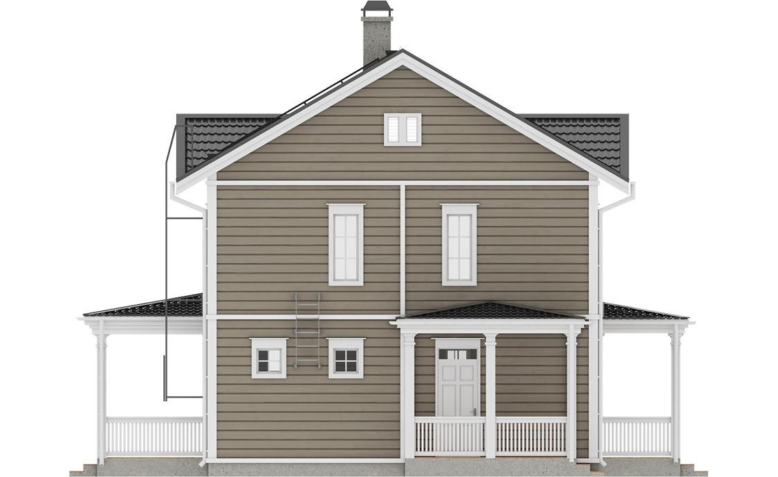Фасад финского каркасного дома