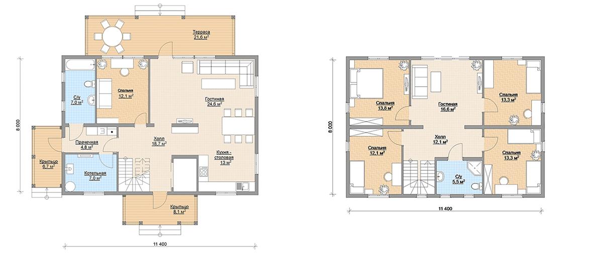 Планировка финского каркасного дома