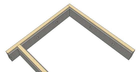 монтаж подкладочной доски на фундамент