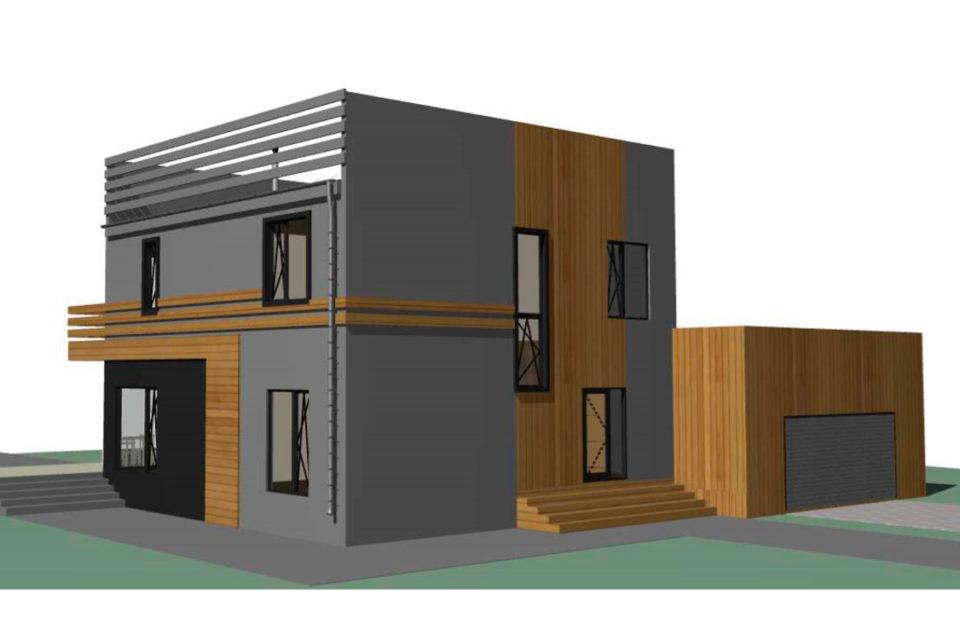 3d модель финского дома