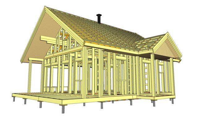 Полный КД проект каркасного дома
