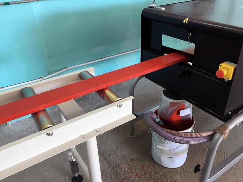 работа станка для промышленной окраски