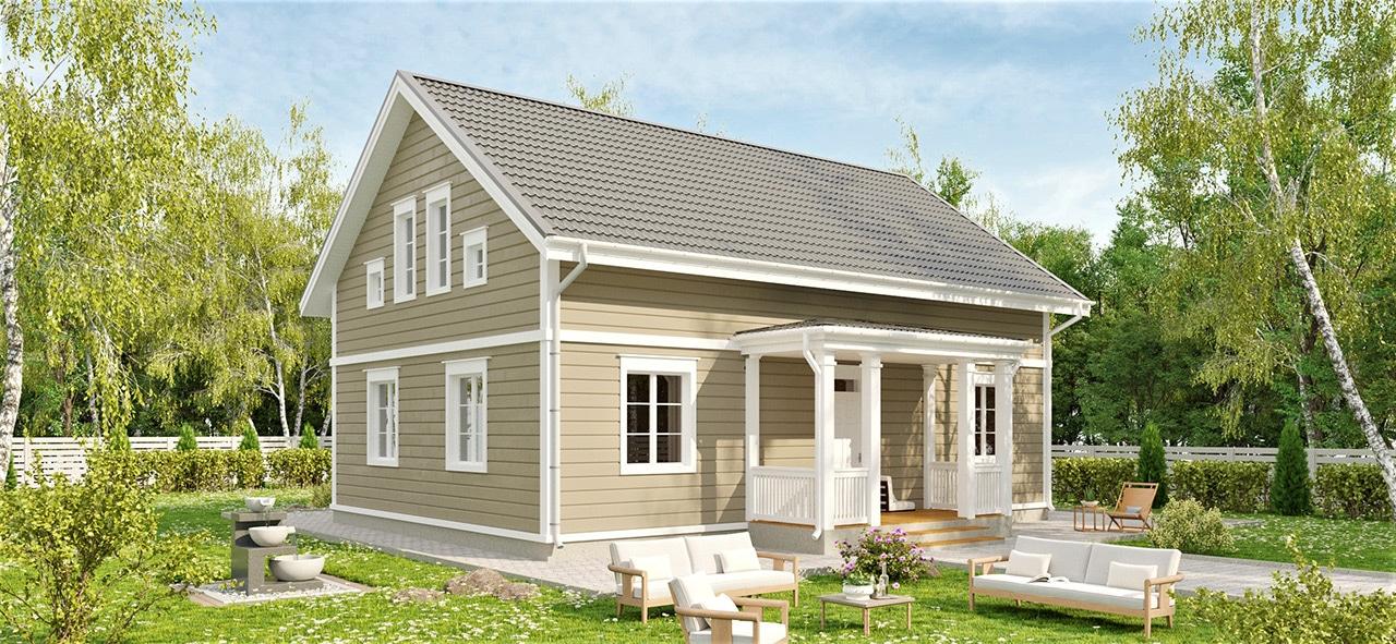 Финский двухэтажный дом Аврора 182