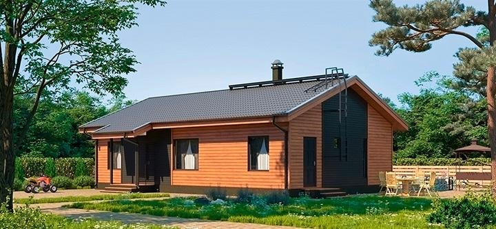 Финский каркасный дом Форсса 100
