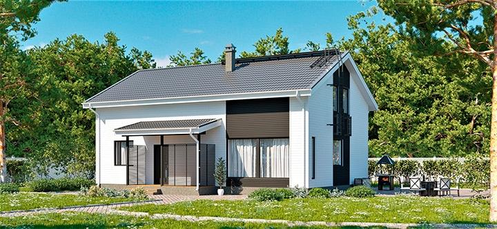 Форсса 192 двухэтажный каркасный дом