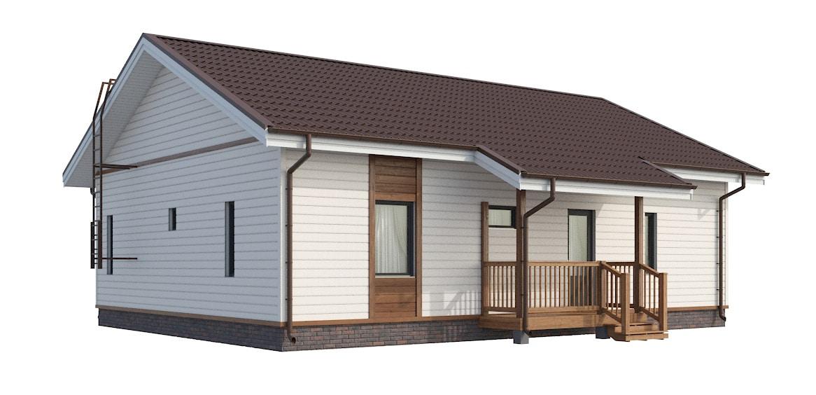 Одноэтажный каркасный дом Форсса 90