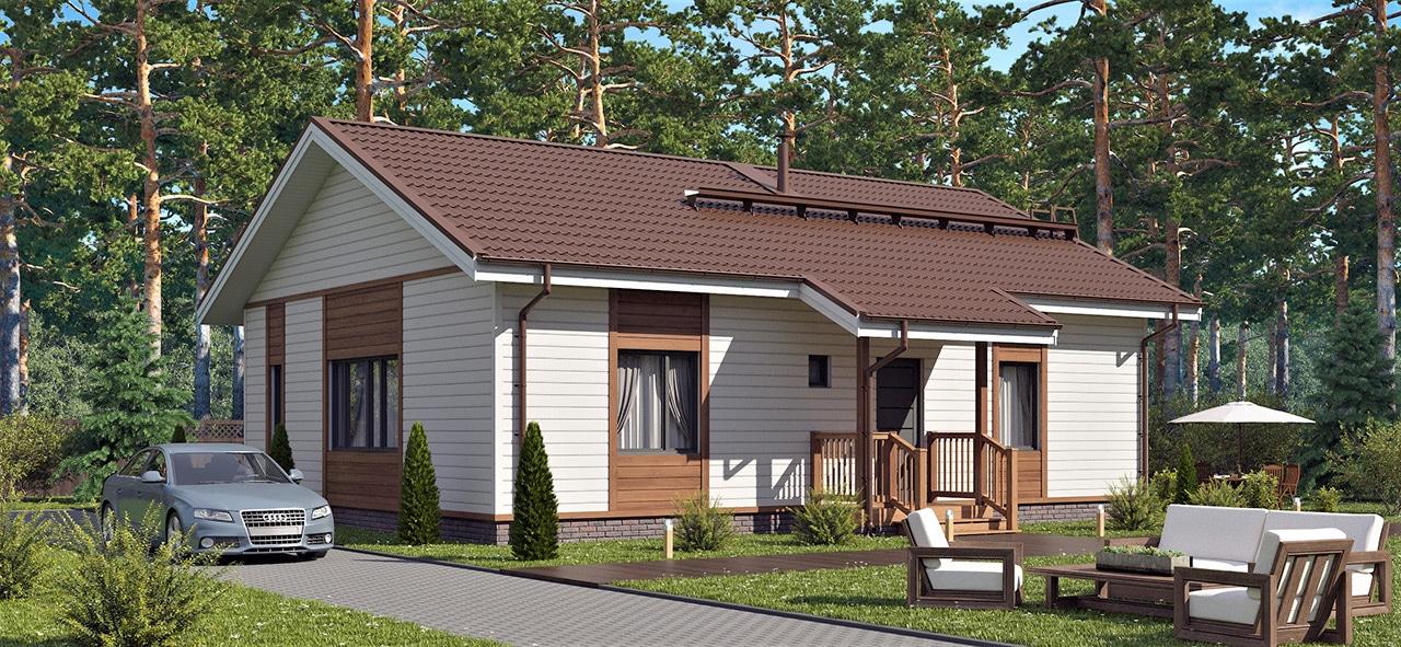 Финский каркасный дом Форсса 90