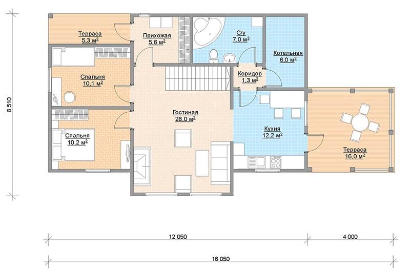 Паули лофт 115 1 этаж