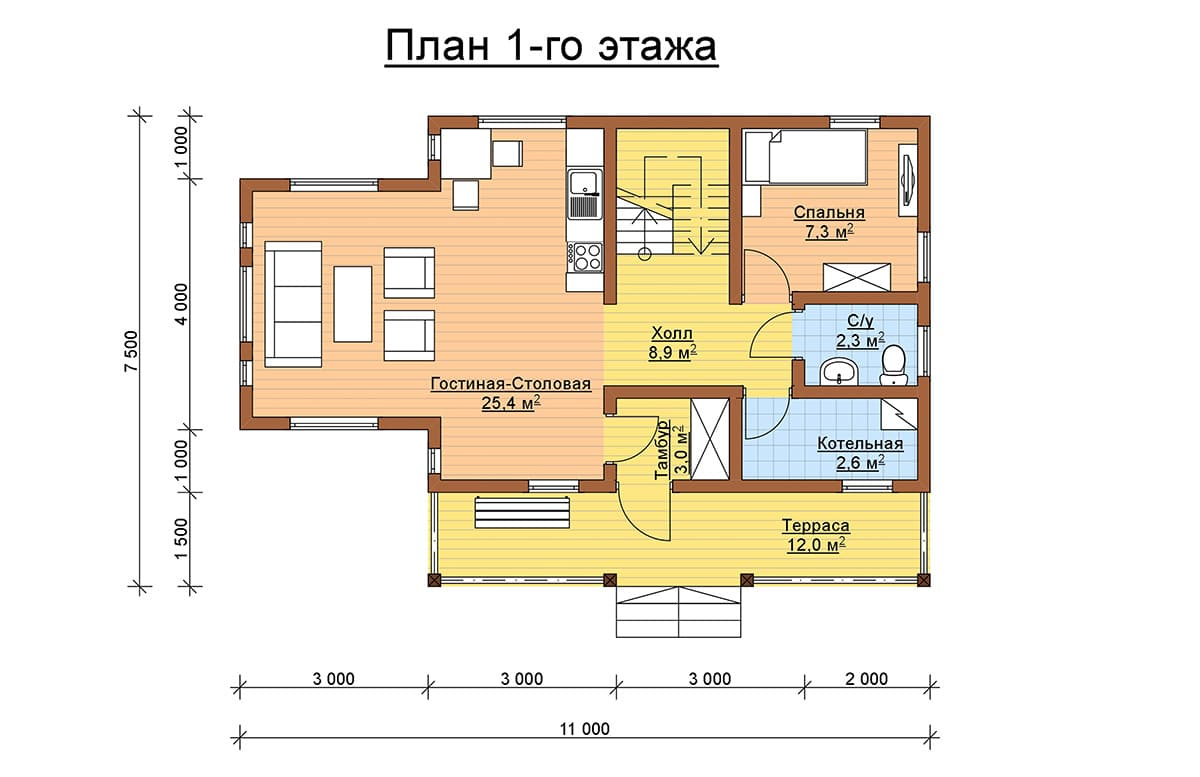 Весса 88 планировка 1 этаж