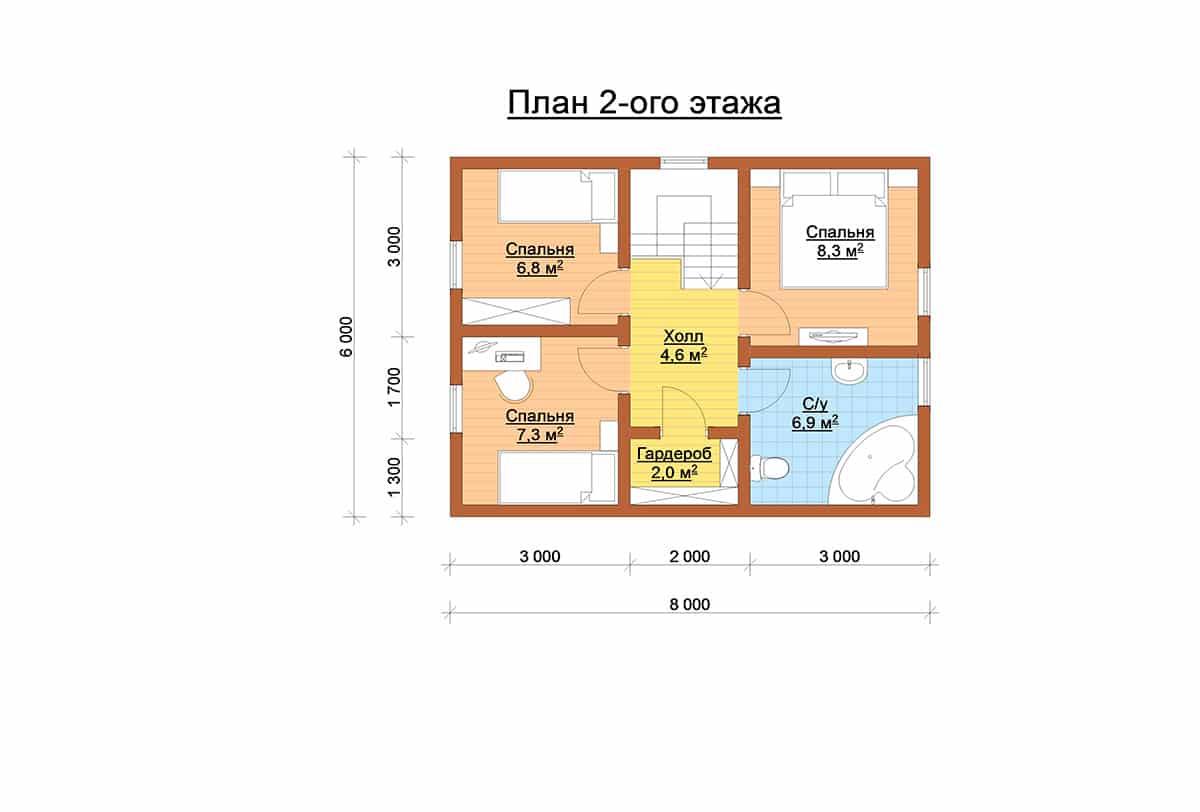 Весса 88 планировка 2 этаж