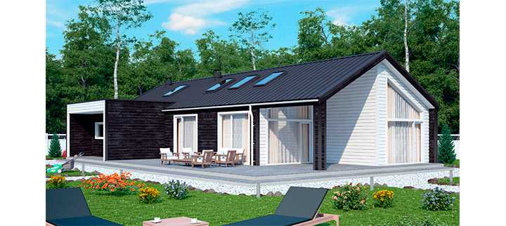 Проект дома каркасного Рансу 148