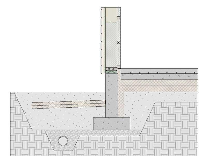 Монтаж водяного теплого пола для монолитного фундамента УФФ