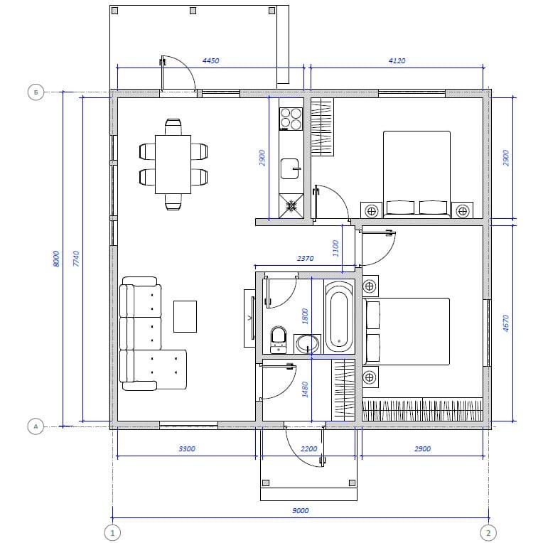 Планировка проекта Анри 68