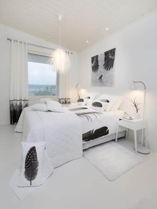 Интерьеры финского дома - спальня