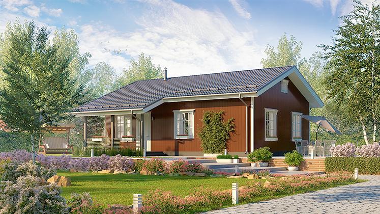 Финский дом каркасный Оматало Кантри